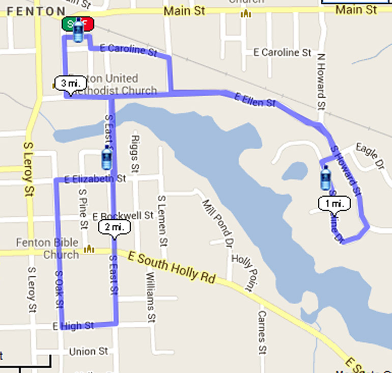 Course Run Layout