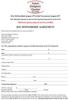 event sponsorship agreement template .