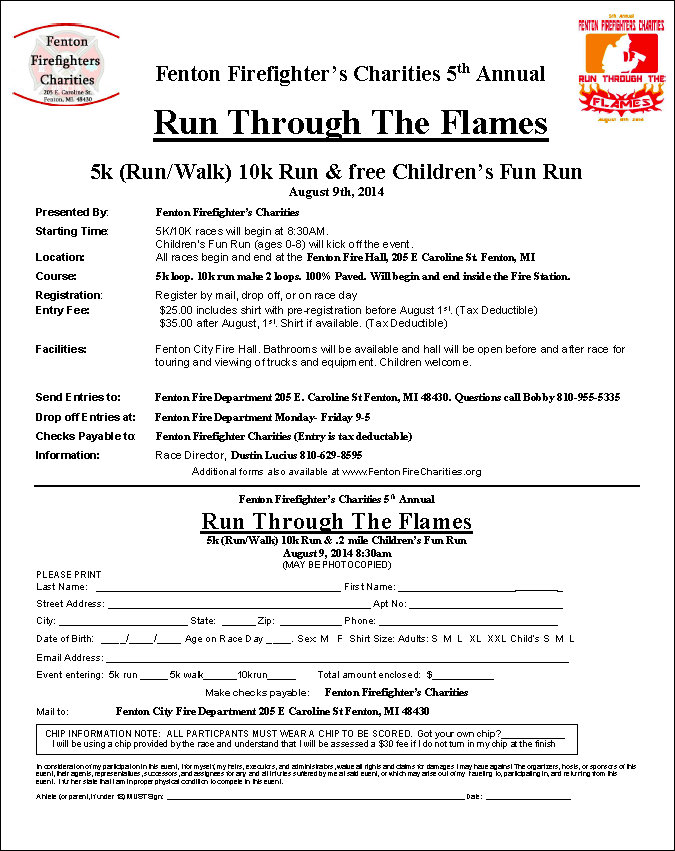2014 Run Through The Flames Registration